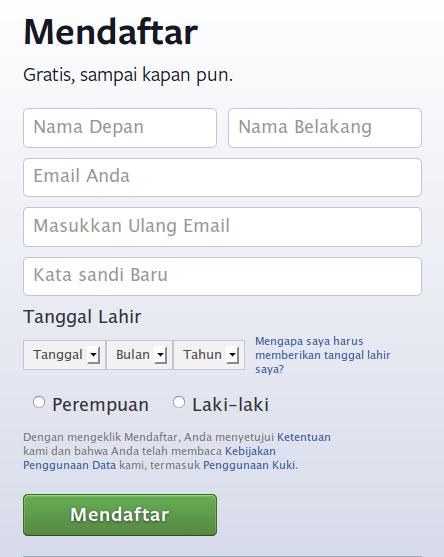 form facebook