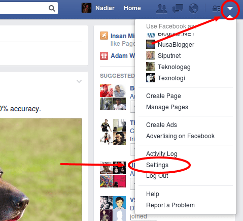 tambilan facebook